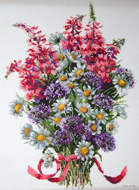 """Вышивка крестом """"Полевые цветы"""" (280х200 мм) — фото, картинка"""