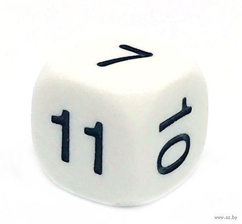 """Кубик D6 """"7-12"""" (16 мм; белый) — фото, картинка"""