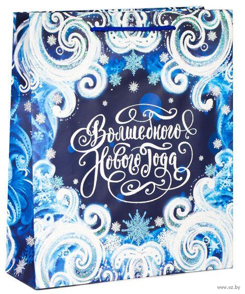 """Пакет бумажный подарочный """"Новогоднее волшебство"""" (18х23х8 см) — фото, картинка"""