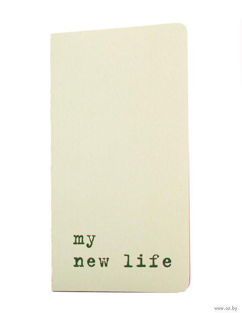 """Записная книжка Молескин """"Chapter. My New Life"""" в линейку (карманная; мягкая светло-зеленая обложка)"""