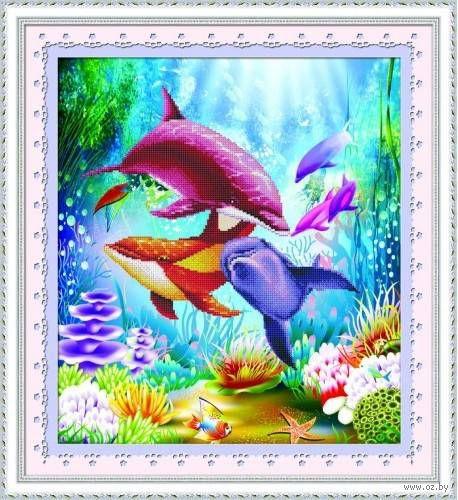 """Алмазная вышивка-мозаика """"Подводный мир"""""""
