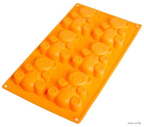 Форма силиконовая для выпекания (305x180x20 мм; персиковая) — фото, картинка