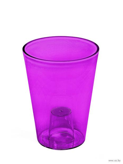 """Кашпо """"Lilia"""" (12,5 см; прозрачное фиолетовое) — фото, картинка"""