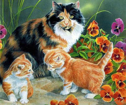 """Картина по номерам """"Котята на прогулке"""" (300х420 мм) — фото, картинка"""