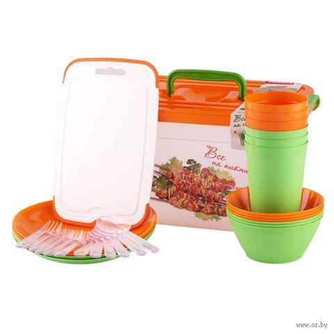 Набор посуды для пикника (32 предмета) — фото, картинка