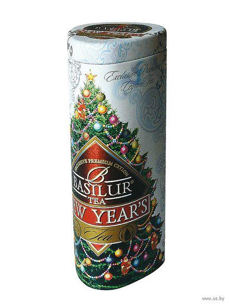 """Чай черный листовой """"Basilur. Новогодний"""" (100 г; в банке) — фото, картинка"""