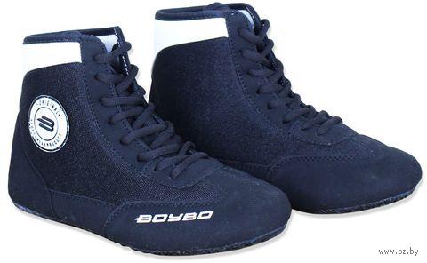Обувь для борьбы (р. 34; чёрно-белая) — фото, картинка