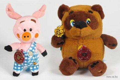 "Набор мягких игрушек ""Винни-Пух и Пятачок"""
