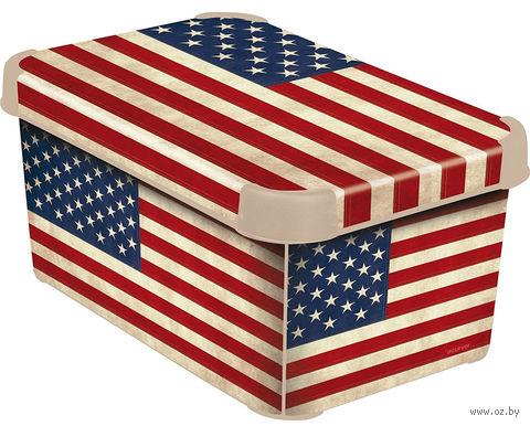 """Коробка для хранения """"USA Flag"""" (295х195х135 мм)"""