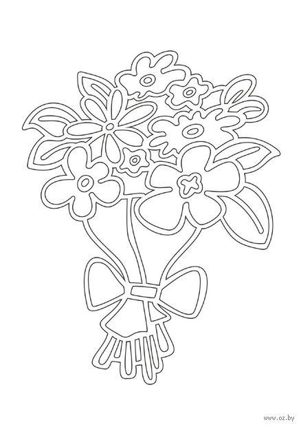 """Трафарет для рисования песком """"Цветы"""" (А4)"""