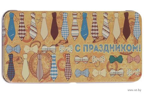 "Подарочная коробочка для денег ""Галстуки и бабочки"" (арт. 43672) — фото, картинка"