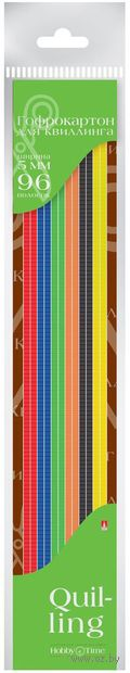 Гофрокартон для квиллинга (300х5 мм; 6 цветов; 96 шт.) — фото, картинка