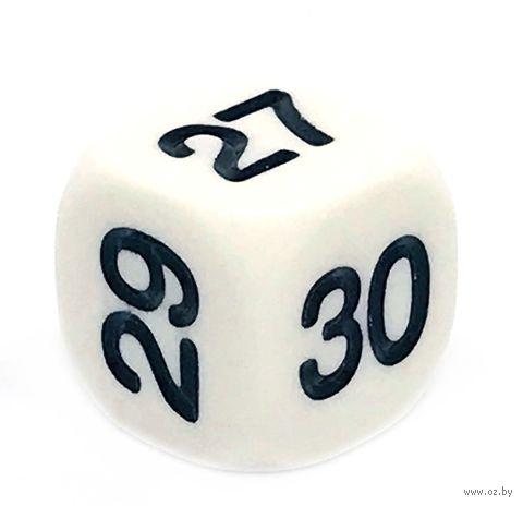 """Кубик D6 """"25-30"""" (16 мм; белый) — фото, картинка"""
