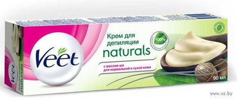 """Крем для депиляции Veet Naturals """"Для нормальной и сухой кожи. С маслом Ши"""" (90 мл) — фото, картинка"""