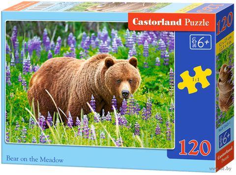 "Пазл ""Медведь на лугу"" (120 элементов) — фото, картинка"