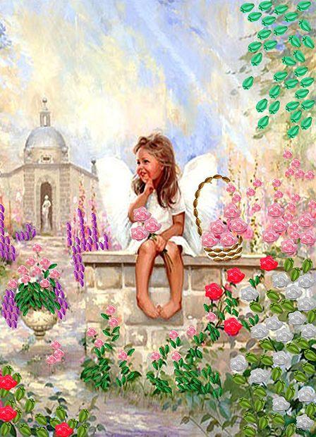"Вышивка лентами ""Ангел сада"" (360х260 мм) — фото, картинка"