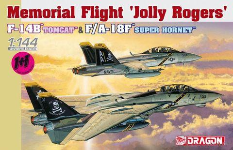"""Набор самолетов """"F-14B Tomcat & F/A-18F Super Hornet"""" (масштаб: 1/144) — фото, картинка"""