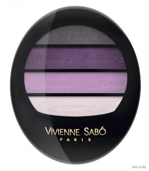 """Тени для век """"Quatre Nuances"""" (тон: 70, серо-фиолетовый) — фото, картинка"""