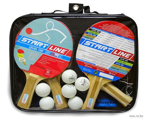 "Набор для настольного тенниса ""Level 100"" (4 ракетки+6 мячей+сумка; арт. 61452) — фото, картинка"