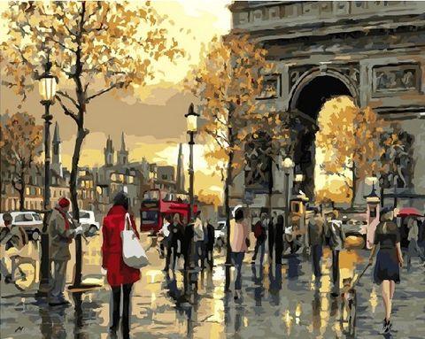 "Картина по номерам ""Осень в Париже"" (500х650 мм) — фото, картинка"