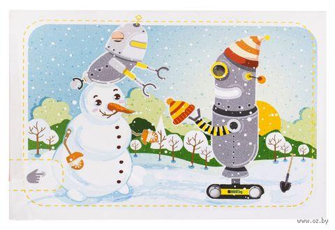 """Набор для изготовления электронной открытки """"Снеговик и роботы"""" — фото, картинка"""