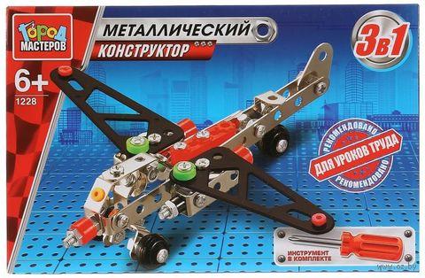 """Конструктор металлический """"3 в 1. Самолет, вертолет, болид"""" — фото, картинка"""