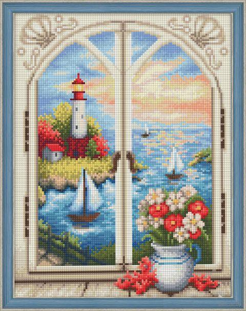 "Алмазная вышивка-мозаика ""Маяк за окном"" (300х400 мм) — фото, картинка"