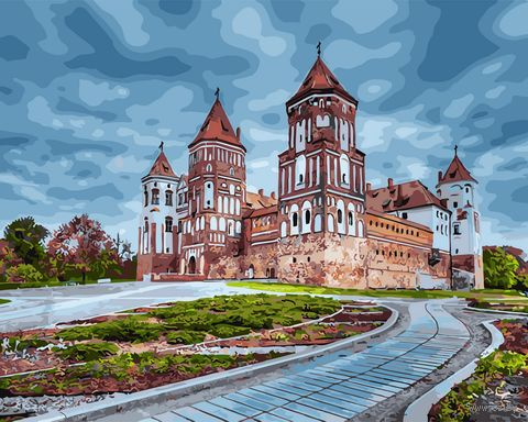 "Картина по номерам ""Мирский замок"" (400х500 мм) — фото, картинка"