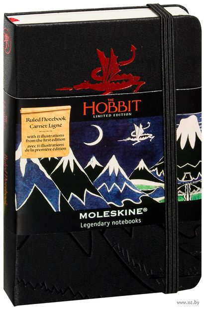 """Записная книжка в линейку """"The Hobbit II"""" (А6; черная)"""