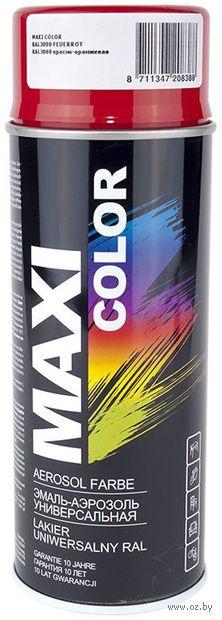 """Эмаль аэрозольная """"Maxi Color"""" (красно-оранжевая; 400 мл) — фото, картинка"""