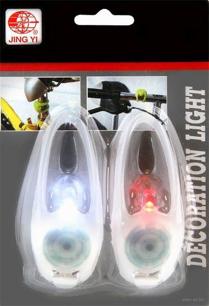 """Комплект фонарей для велосипеда """"JY-267-1A"""" (белый) — фото, картинка"""