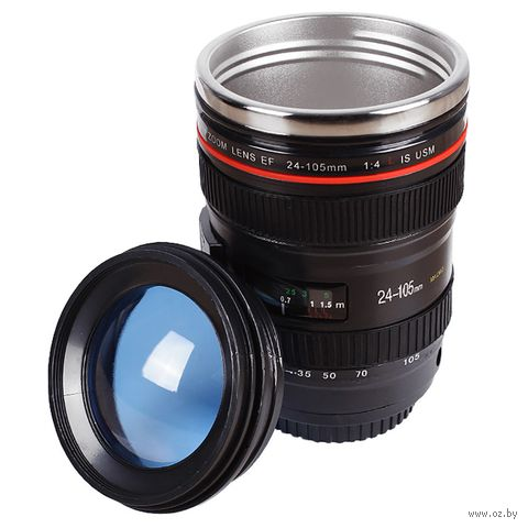 "Термокружка ""Объектив фотоаппарата"" (арт. DV-H-1298) — фото, картинка"