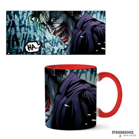"""Кружка """"Джокер из вселенной DC"""" (красная; арт. 0420) — фото, картинка"""