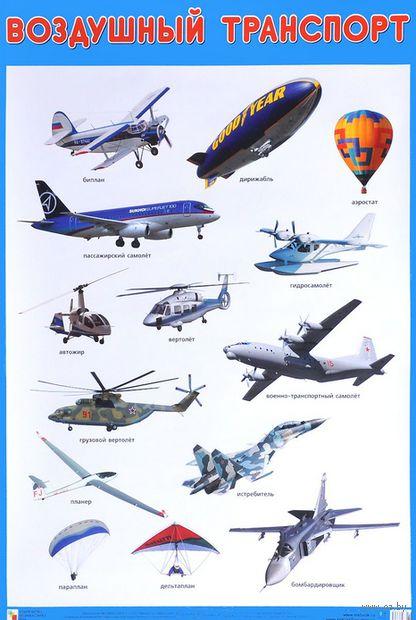 Воздушный транспорт. Плакат — фото, картинка