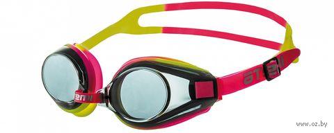 Очки для плавания (розово-жёлтые; арт. M102) — фото, картинка