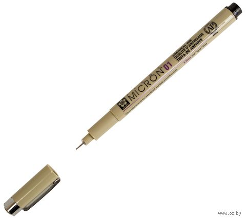 """Ручка капиллярная """"Pigma Micron 01"""" (0,25 мм; черная) — фото, картинка"""
