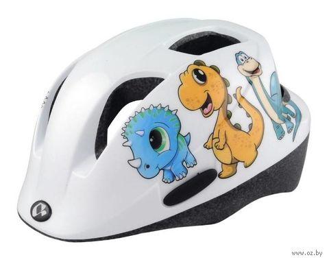 """Шлем велосипедный """"Qorm Dino"""" (белый, р. 48-54) — фото, картинка"""