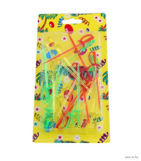 Набор шпажек пластмассовых (24 шт, 8 см)