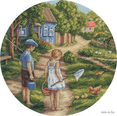 """Вышивка крестом """"Дорогой детства"""" (265x265 мм) — фото, картинка"""