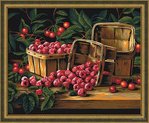 "Картина по номерам ""Урожай малины"" (400х500 мм) — фото, картинка"