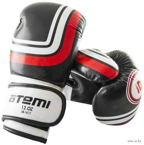 Перчатки боксёрские LTB-16111 (S/M; чёрные; 12 унций) — фото, картинка