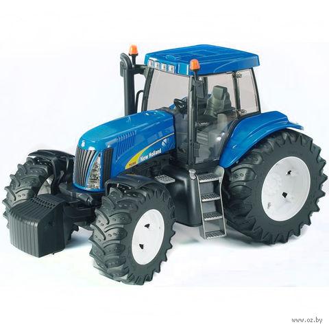 """Модель машины """"Трактор New Holland T8040 с погрузчиком"""" (масштаб: 1/16)"""