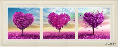 """Алмазная вышивка-мозаика """"Триптих. Любовное дерево"""""""