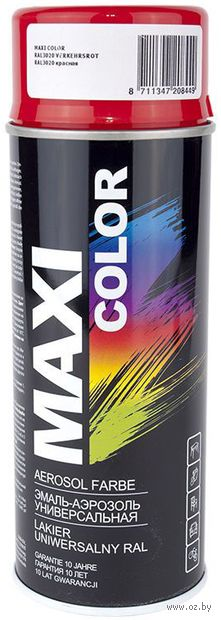 """Эмаль аэрозольная """"Maxi Color"""" (красная; 400 мл) — фото, картинка"""