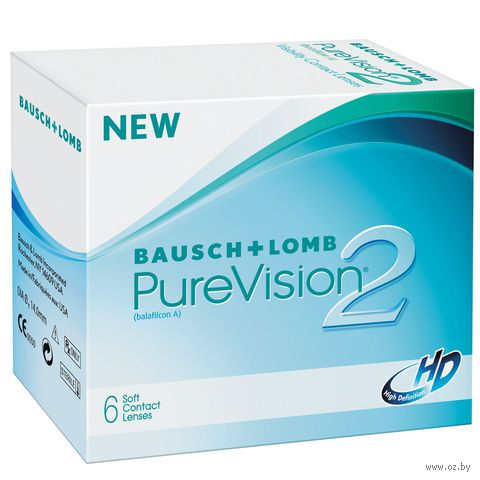 """Контактные линзы """"Pure Vision 2 HD"""" (1 линза; -1,5 дптр) — фото, картинка"""