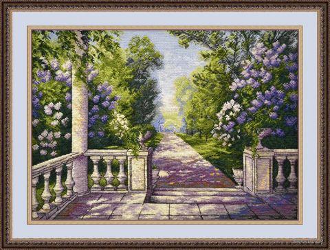"""Вышивка крестом """"Сирень цветет"""" (420х310 мм) — фото, картинка"""