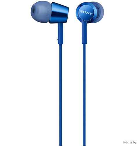 Наушники с микрофоном Sony MDR-EX155APL (синие) — фото, картинка
