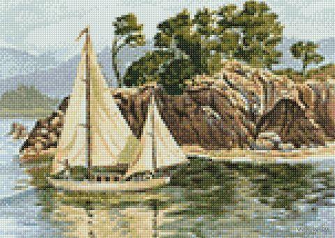 """Алмазная вышивка-мозаика """"Родные берега"""" (380х270 мм) — фото, картинка"""