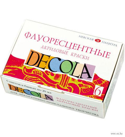 """Краски акриловые """"Decola. Neon"""" (6 цветов) — фото, картинка"""