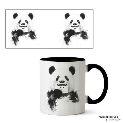 "Кружка ""Панда"" (506, черная)"